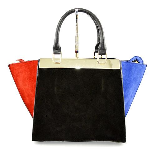 Alice + Olivia Color-Block Suede Bag #103-17