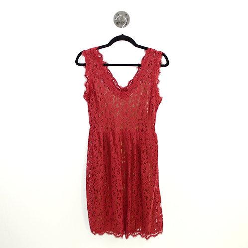 Greylin Lace Dress w/ Gold Metallic Slip #189-3025