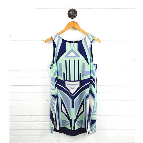 Central Park West Silk Print Dress #177-1614