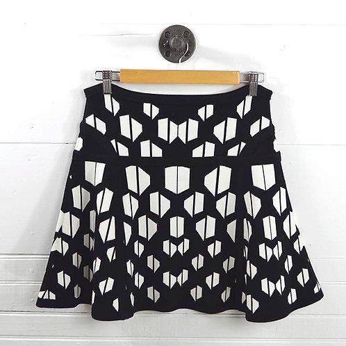 Dvf 'Flote' Skater Mini Skirt #131-26