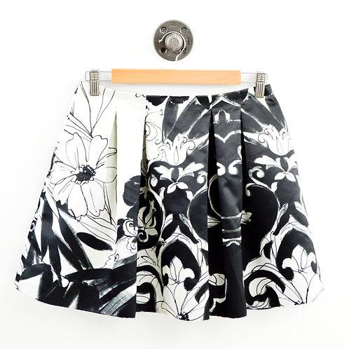 Alice + Olivia Satin Print Skater Skirt #103-23