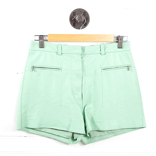3.1 Phillip Lim High Waisted Leather Shorts #186-65