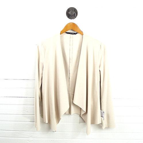 Zara Drape Front Faux Suede Jacket #123-1117