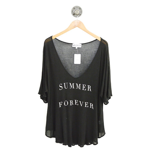 Wildfox V-Neck Relaxed Knit Top #186-107