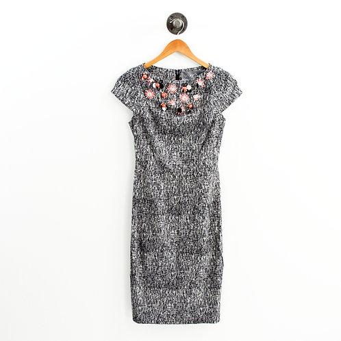 Lela Rose Beaded Neckline Dress #135-196