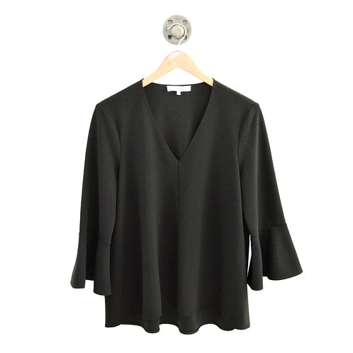 Tibi Bell Sleeve V-Neck Top #126-106