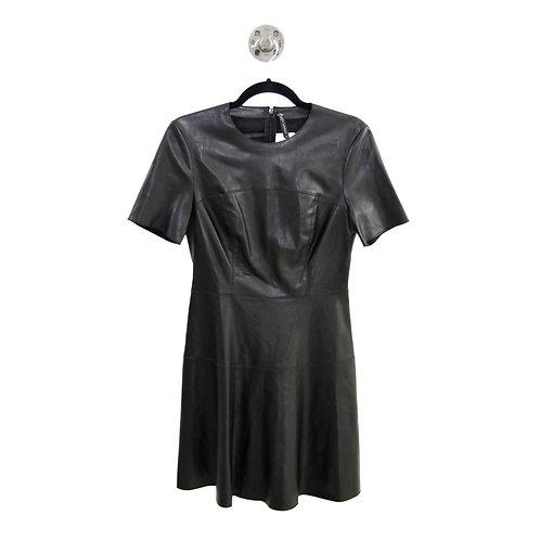Zara Faux Leather Fit & Flare Dress #177-1844