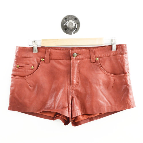 Free People Faux Leather Shorts #175-51