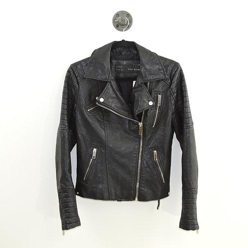 Zara Faux Leather Moto Jacket #127-3086