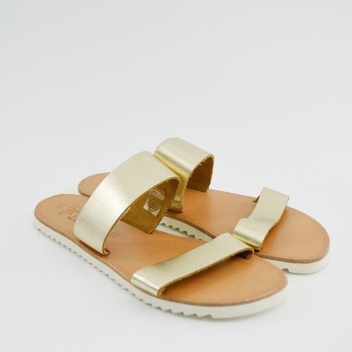 Joie Metallic Leather Sandals #123-343