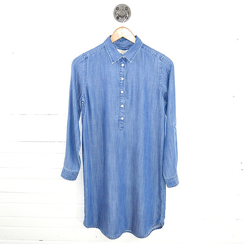 Loft Chambray Shirt Dress w/ Roll Up Sleeve Detail #123-245