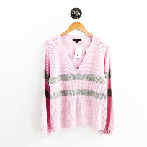 Ann Taylor Bell Sleeve Stripe Sweater #177-1866