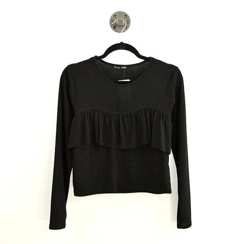 Zara Long Sleeve Ruffle Top #177-1872