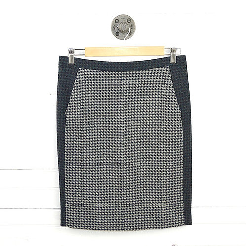 J. Crew Houndstooth Wool Pencil Skirt #123-3043