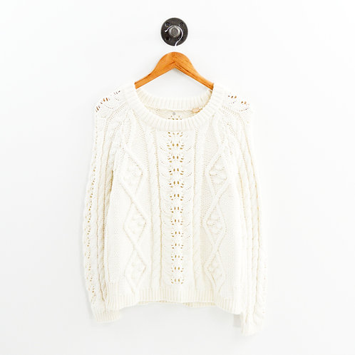 Knitted & Knotted Crew Neck Sweater #164-21