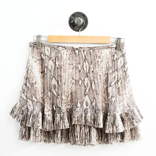Banana Republic Snakeskin Print Mini Skirt #185-1089