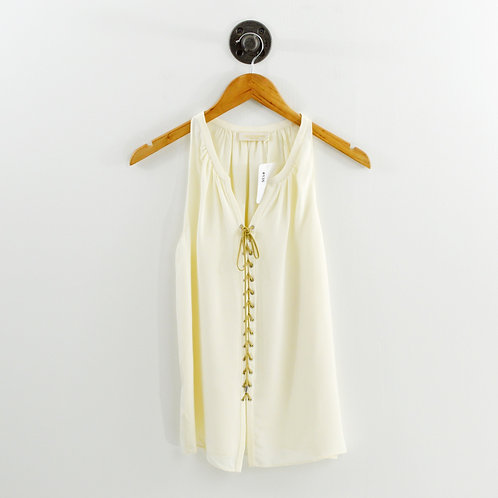Ramy Brook Lace Up Silk Blouse #135-104