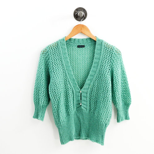 Ethic Woven Knit Deep V Sweater #163-65