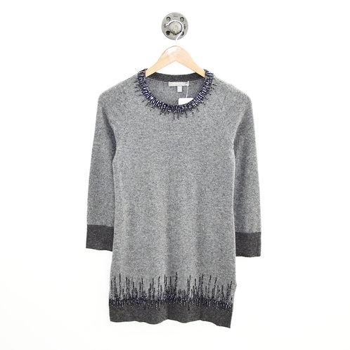 Neiman Marcus Cashmere Beaded Tunic Sweater #146-8