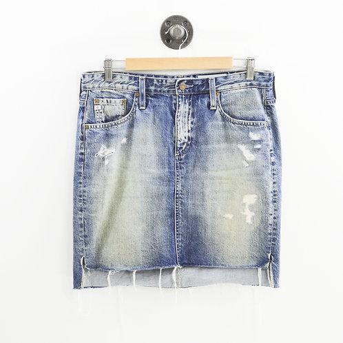 AG ED Denim Distressed Skirt #187-92