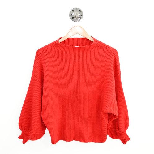 Line + Dot Mock Neck Sweater #186-118