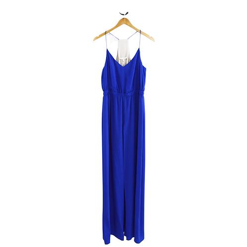 Lavender Brown Silk Maxi Dress #192-87