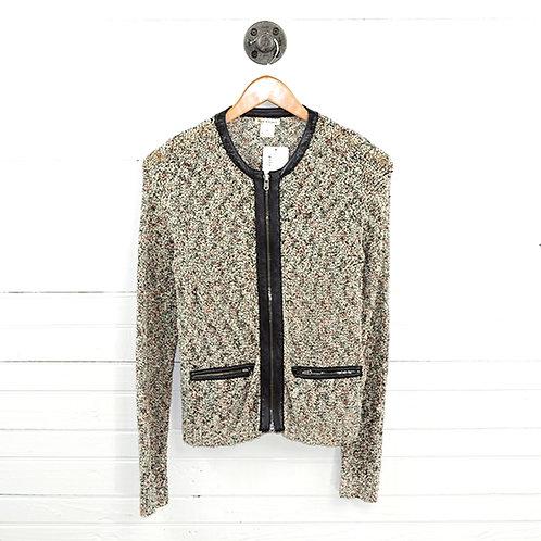 Club Monaco Leather Trim Tweed Blazer #177-148