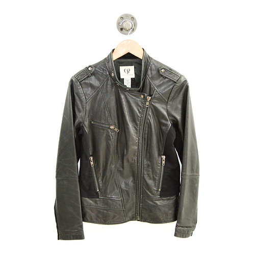 Charlotte Ronson Leather Moto Jacket #126-122