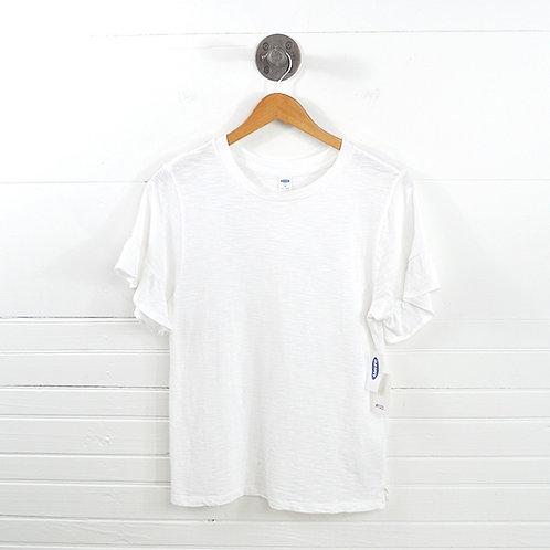 Old Navy Ruffle Sleeve T-Shirt #123-1036