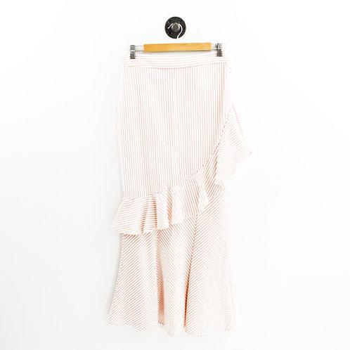 Eva Mendes NY&C Stripe Ruffle Maxi Skirt#175-49