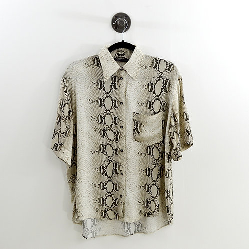 Zara Snakeskin Print Button Down #185-1256