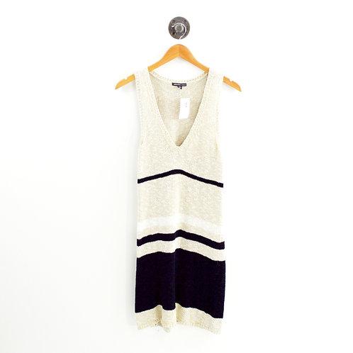 James Perse Striped Knit Dress #143-96