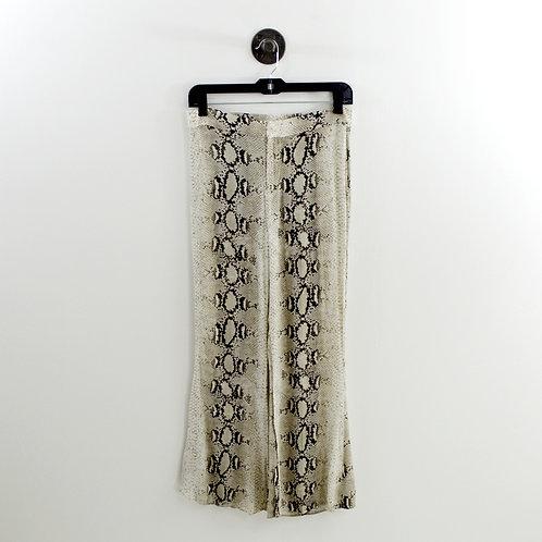 Zara Wide Leg Crop Snakeskin Pant #185-1253