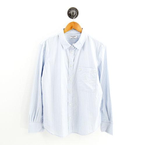 Frame Shirt Double Stripe Button Down #143-93