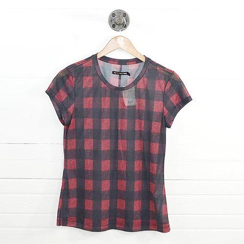 Rag & Bone/ Jean Plaid T-Shirt #127-54