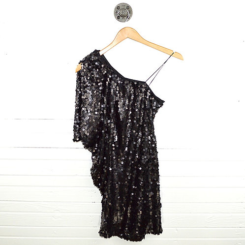 Aqua Sequin One Shoulder Dress #101-1462