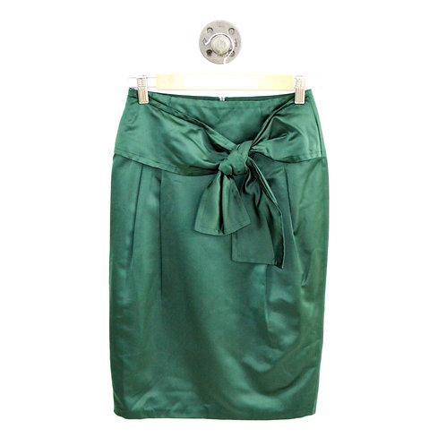 René Lezard Silk Pencil Skirt #135-168