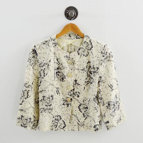 Max Mara Linen Floral Blazer #170-482