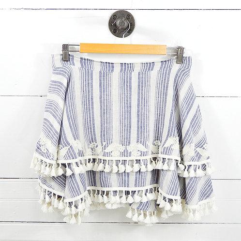 Tryb Fringe Linen Skirt #127-36