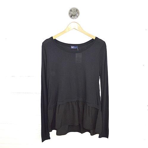 Gap Ruffle Hem Long Sleeve T-shirt #123-3075