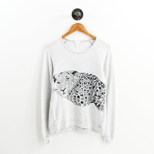 Soft Joie Leopard Graphic Sweatshirt #186-114