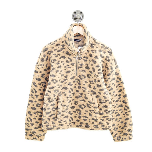 Abercrombie & Fitch Leopard Fleece Pullover #123-377