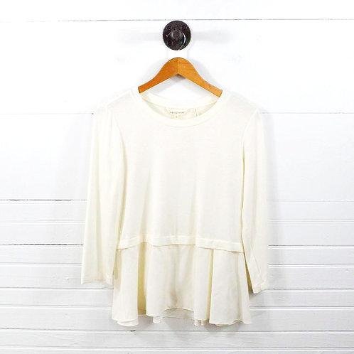 Rebecca Taylor Silk Peplum T-Shirt #138-71