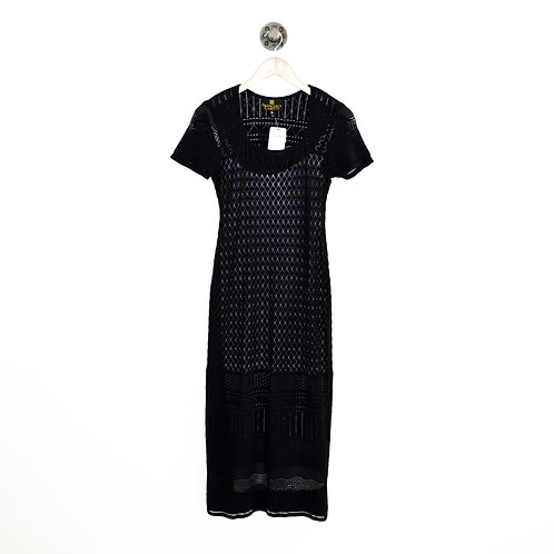 Francesca Caretti Lazer Cut Fitted Midi Dress #195-11