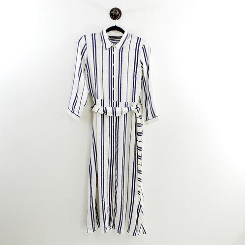 Zara Striped Longline Shirt Dress #191-3089