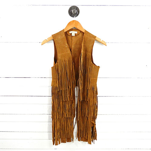 Forever 21 Leather Fringe Vest #178-1476