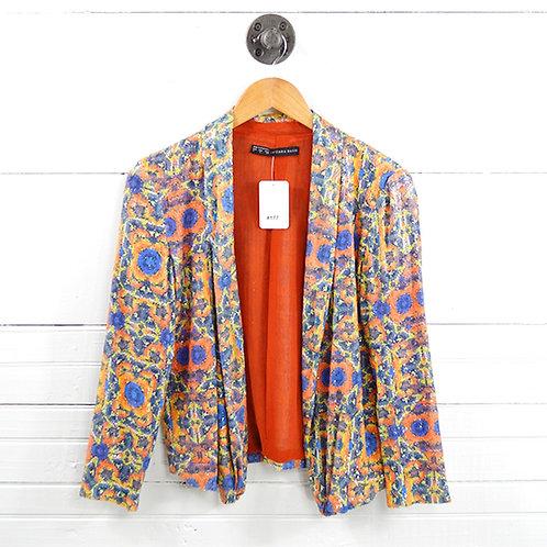 Zara Sequin Drape Front Jacket #177-1634