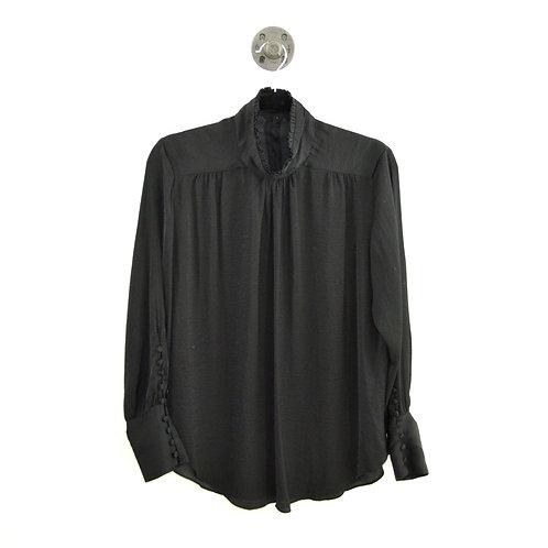 Zara High Neck Blouse w/ Button Detail #126-3083