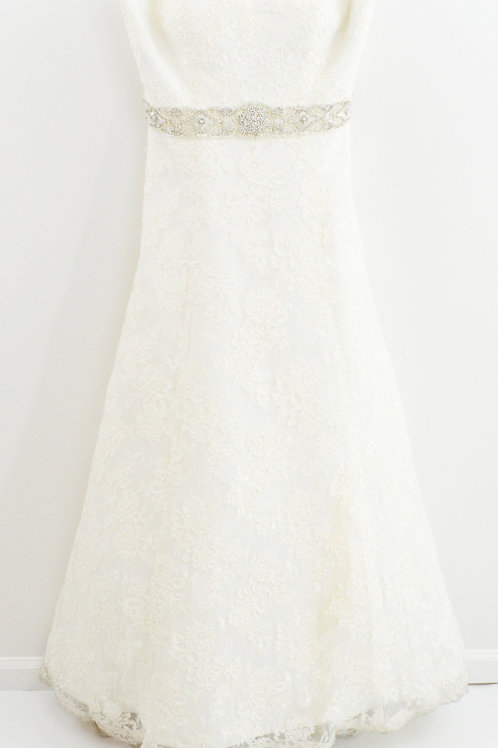 Justin Alexander Strapless Sweetheart Lace Bridal Gown #102-1