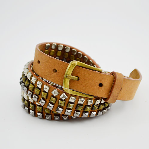 Rough Roses Leather Studded Belt #170-2011